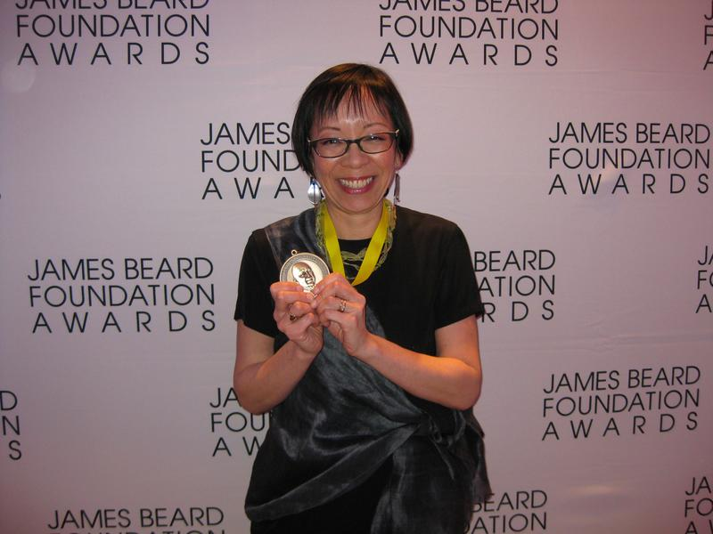 Grace Young and her James Beard Award, 2011