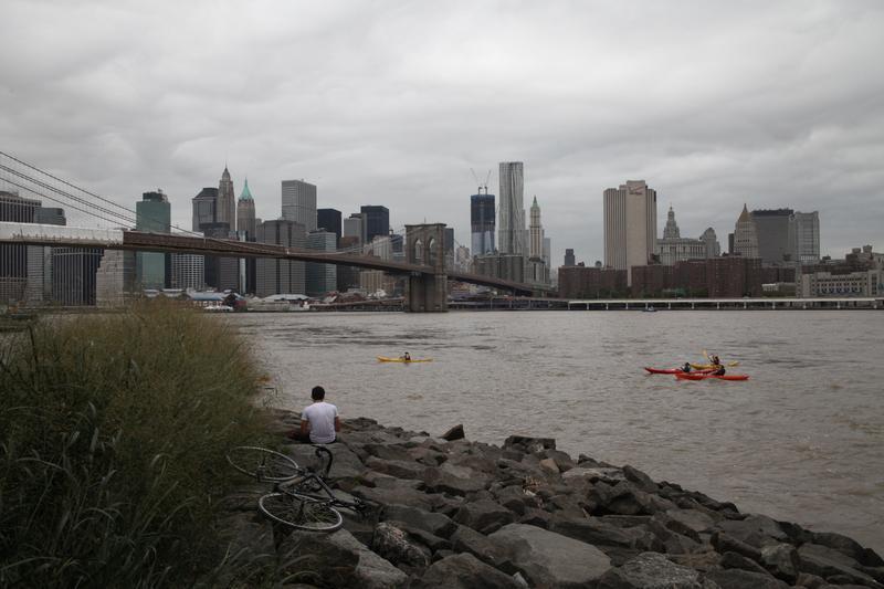 A view from the Brooklyn Waterfront on September 11, 2011.