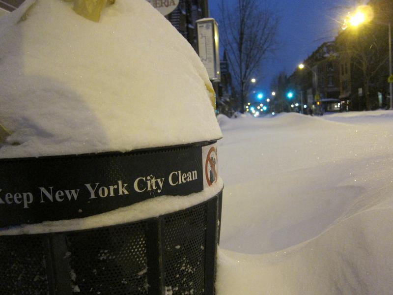 NYC under snow