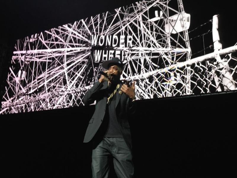 """Jay-Z performs """"Empire State of Mind"""" at the Beacon Theater at the Google / YouTube """"Brandcast"""": the Internet company's version of a television """"upfront."""""""