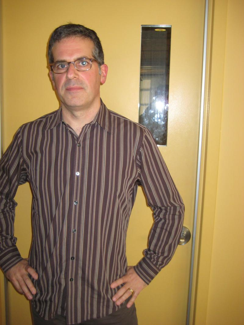 Jonathan Lethem in the WNYC studios