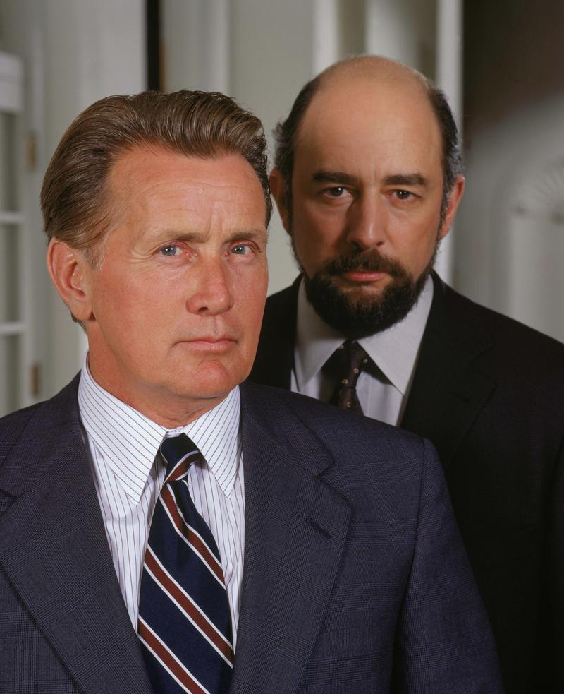 Martin Sheen as President Josiah Bartlet and Richard Schiff as Communications Director Toby Ziegler on NBC's 'West Wing'