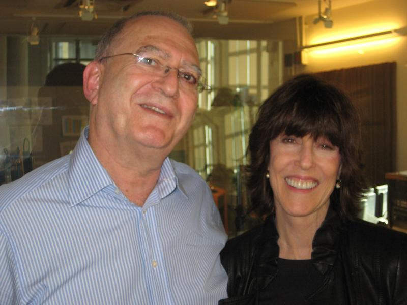 Leonard Lopate and Nora Ephron in the WNYC studios in 2010