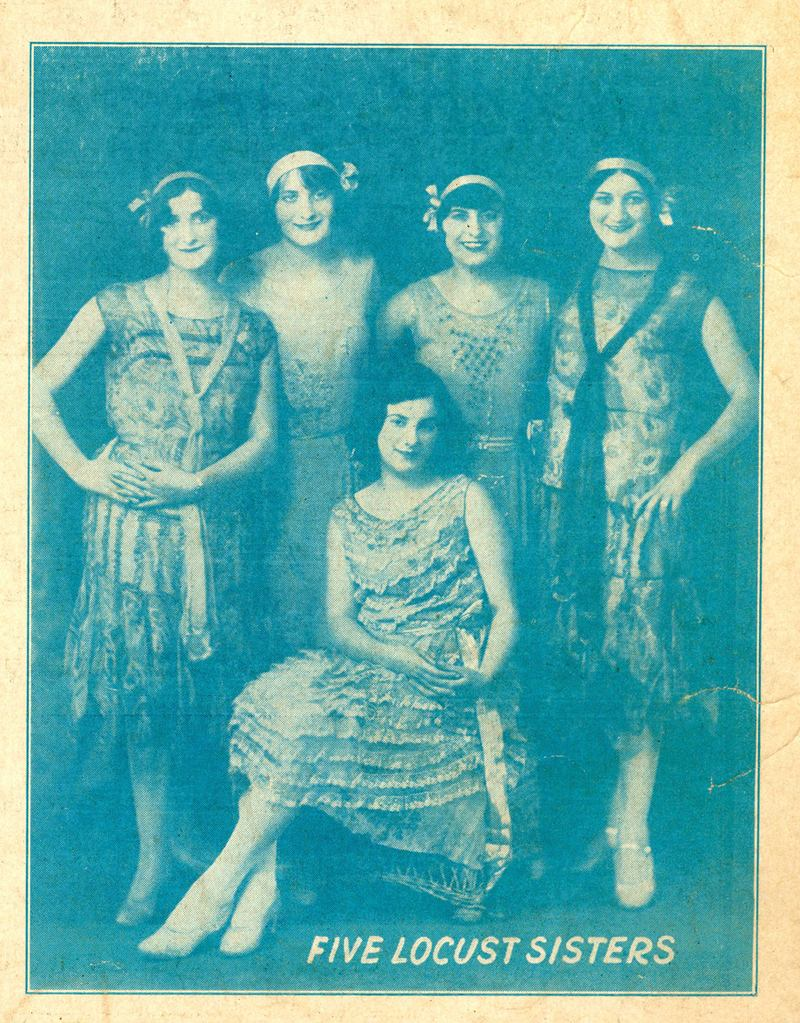 The Five Locust Sisters a year before they appeared on WNYC. Mildred, Lillian, Ida and ? sang. Matilda accompanied them on piano.