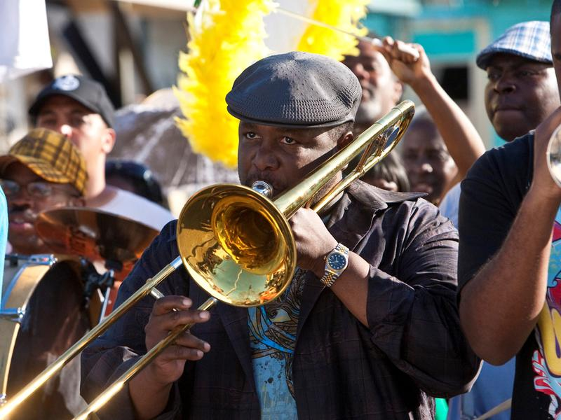 New Orleans native Wendell Pierce plays a trombonist named Antoine Batiste in the HBO series <em>Treme</em>.