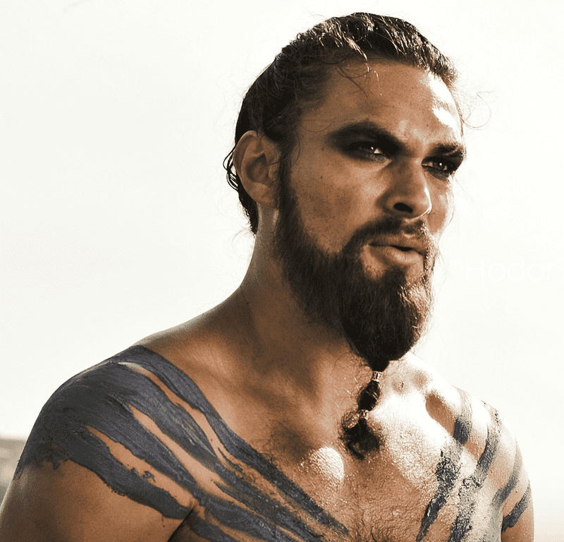 Jason Momoa as the Dothraki warlord Drogo in the HBO series <em>Game of Thrones</em>