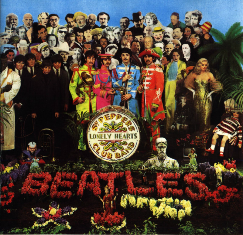 Album cover for the Beatles' <em>Sgt. Pepper's Lonely Hearts Club Band</em>