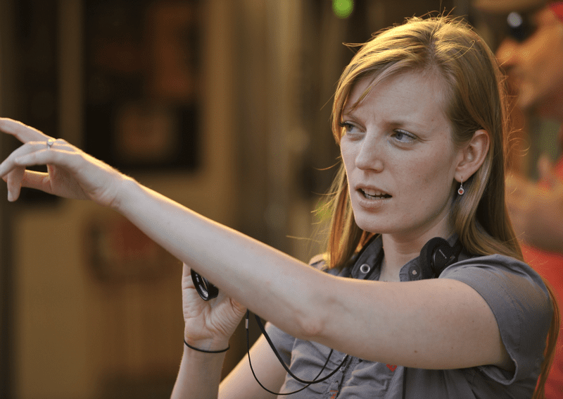 Director Sarah Polley on the set of her film <em>Take This Waltz</em>