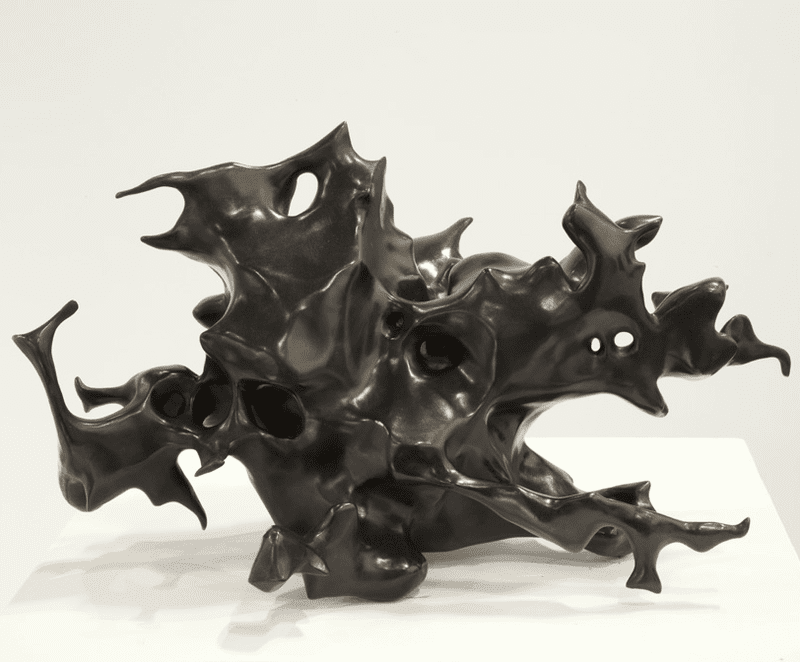 A sculpture of a tumor made by caraballo-farman for Object Breast Cancer