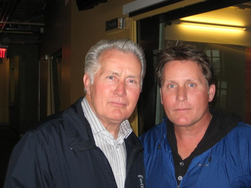 Martin Sheen and Emilio Estevez at WNYC, May 9, 2012
