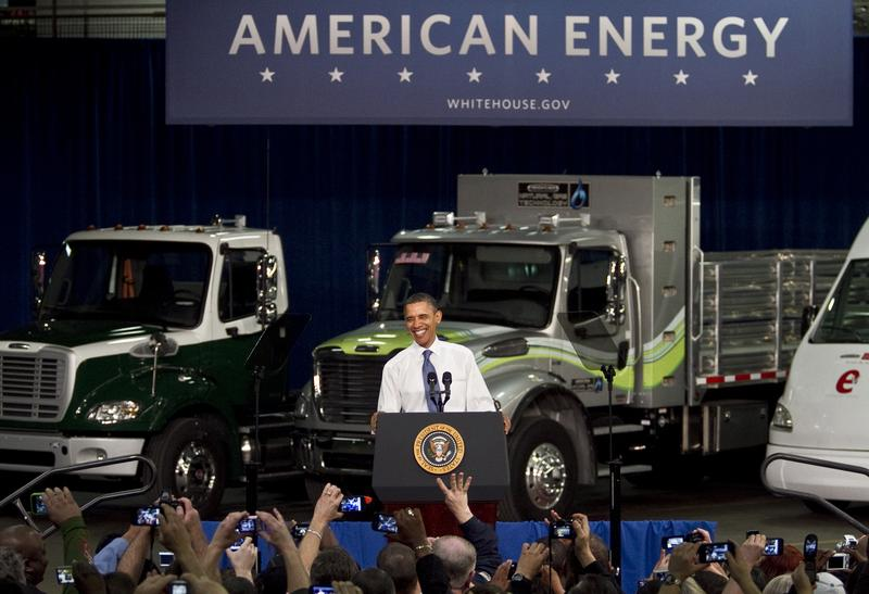 President Obama at Daimler Trucks in Mt. Holly, North Carolina, in March, 2012