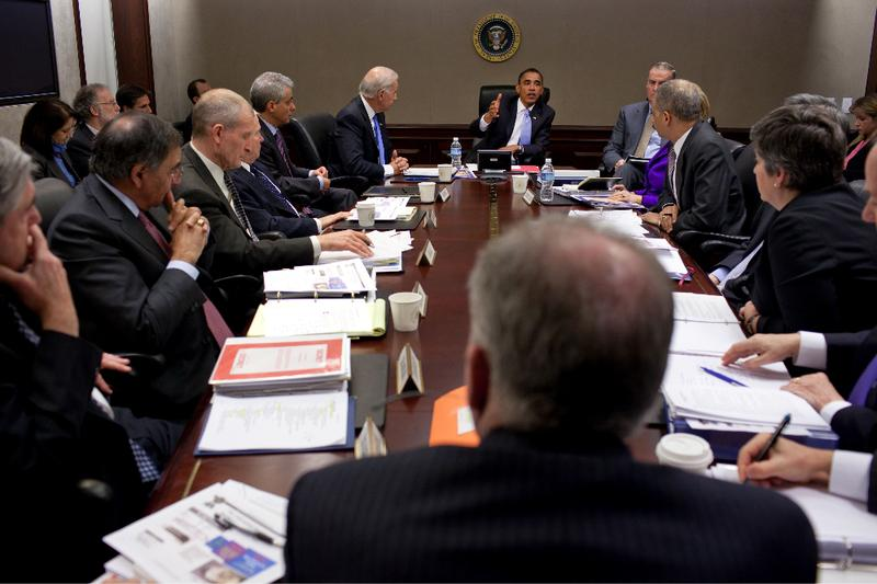 President Obama meets with his National Security Team.