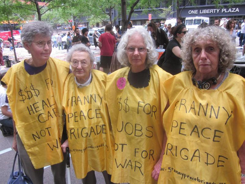 Members of the Granny Peace Brigade