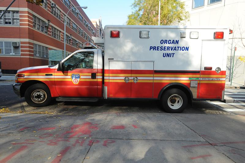"Technically, it's not an ambulance. The ""O.P.U."" will trail behind emergency responders, and only approach families, if someone expires who's a potential donor."