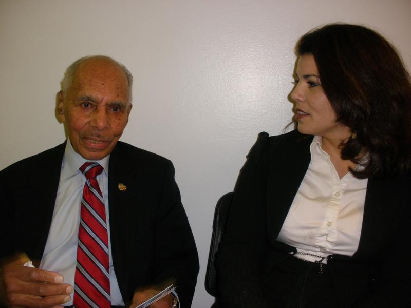 Dr. Roscoe Brown and Celeste Headlee backstage at the Brooklyn Museum of Art, New York