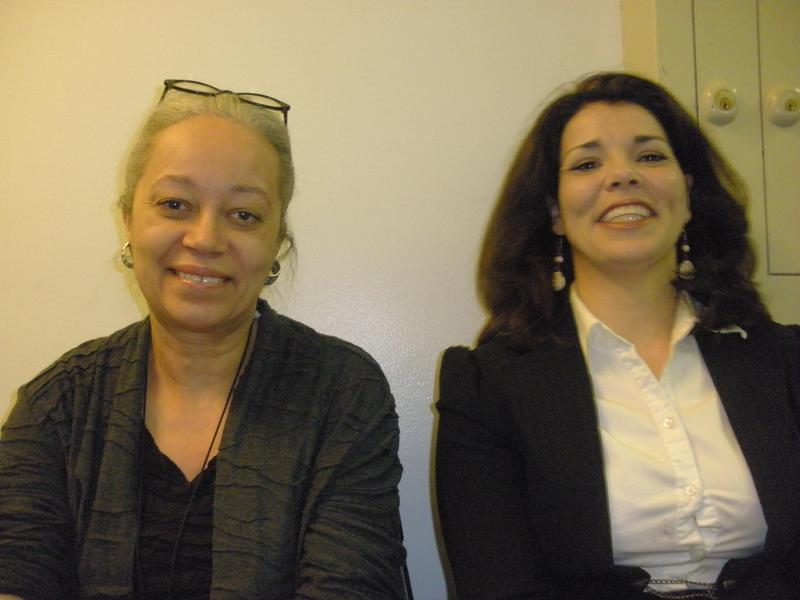 Columbia University Law Professor, Patricia Williams and Celeste Headlee backstage at the Brooklyn Museum, NY