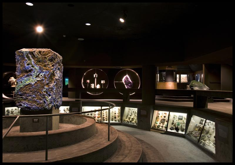 The Hall of Gems and Minerals at the American Museum of Natural History