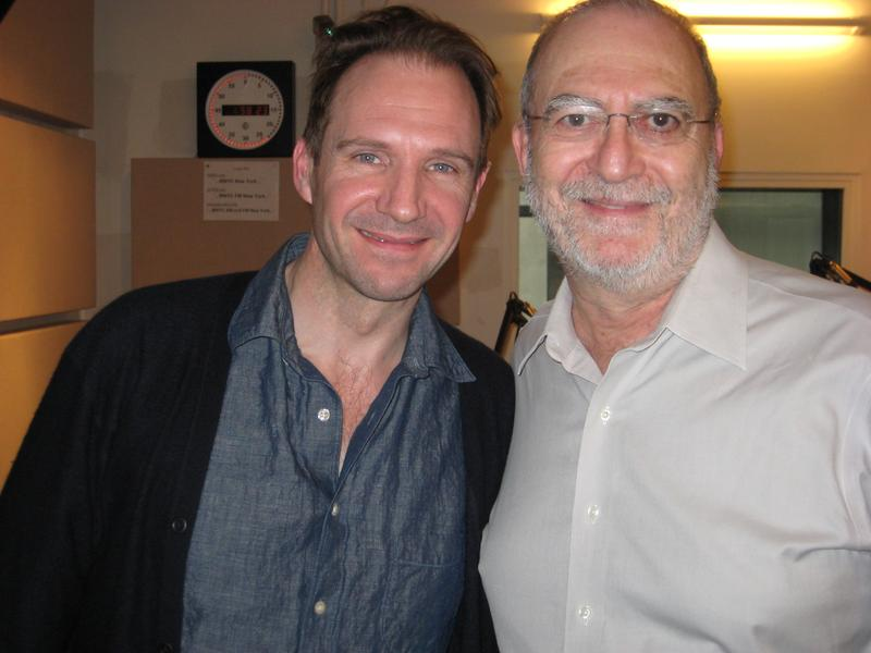 Ralph Fiennes and Leonard Lopate in the WNYC studios