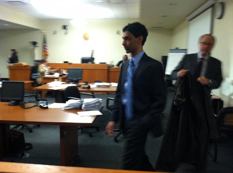 Dharun Ravi arrives in court with his lawyer Steven Altman.