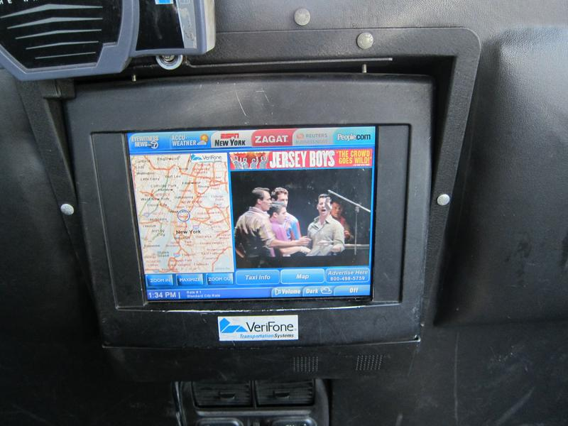 Taxi TV found in NYC taxi cabs.