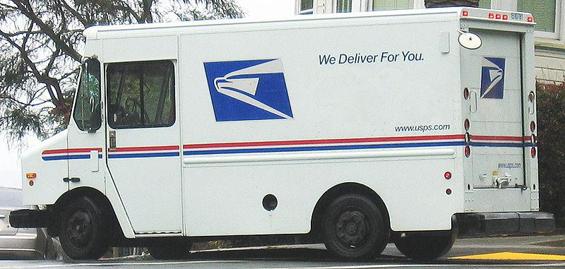 A United States Postal Service truck in San Francisco