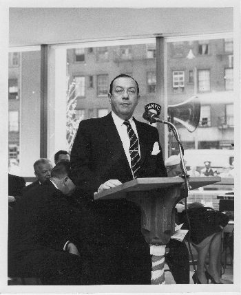 New York Mayor Robert F. Wagner at the dedication of the new home of the  Fashion Institute of Technology on May 4, 1959