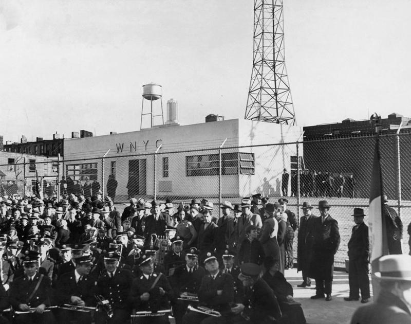 WNYC's Greenpoint, Brooklyn transmitter on opening day, October 31, 1937.