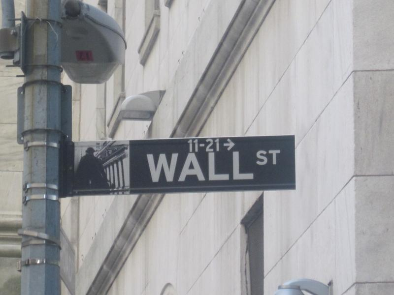 """Wall St."" Sign"