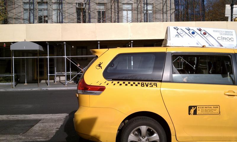 One of the approximately 200 wheelchair accessible cabs in the city.