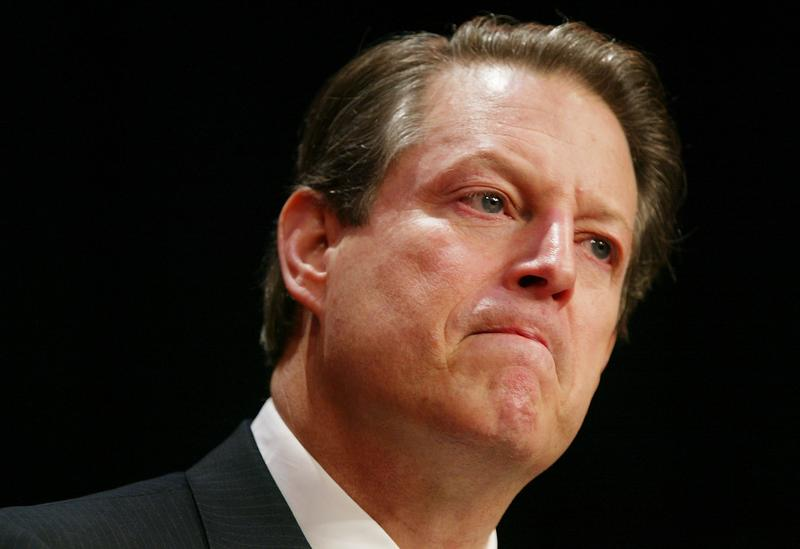 Former U.S. Vice President Al Gore pauses as he speaks to an audience during an event at New York University in August 2003.