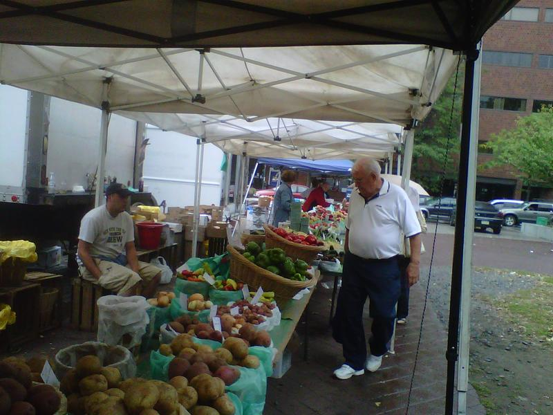 Voters at the Wilkes-Barre Farmer's Market don't blame Obama for the bad economy, but they aren't noticing any help from him either.