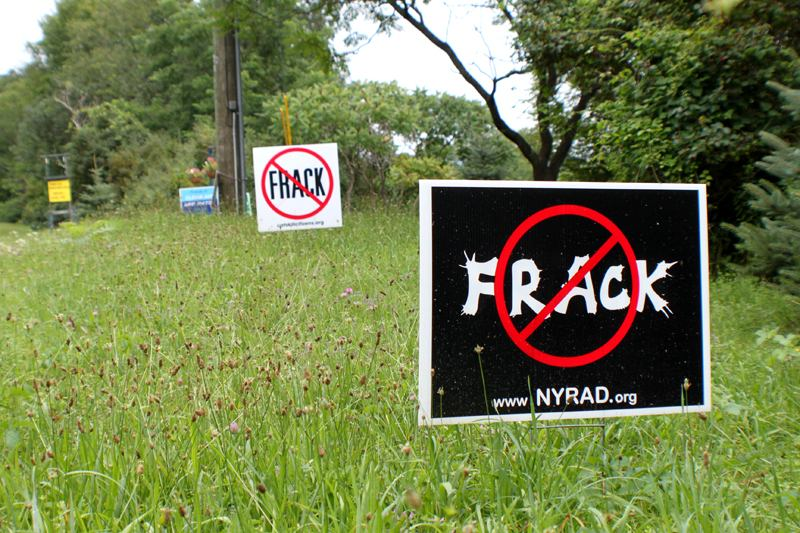 Anti-fracking sign