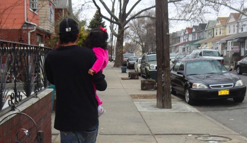 Antonio with baby girl, Kirsten