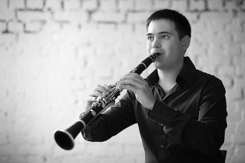 Clarinetist Stanislav Chernyshev.