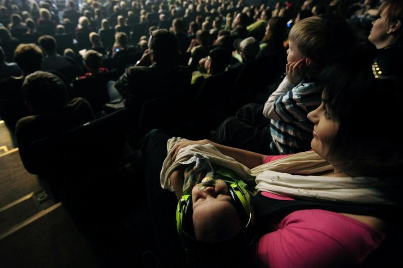 Not every two-month-old baby sleeps as soundly through a concert as this one.
