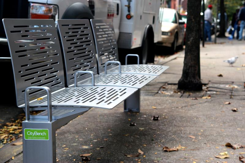 An example of a city bench that may come to a neighborhood near you.