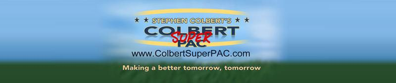 The logo for Steven Colbert's super PAC, Making a Better Tomorrow, Tomorrow.