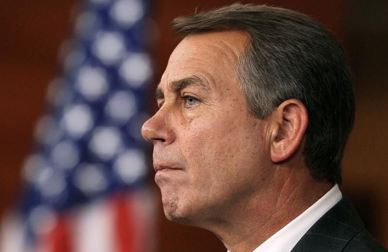 Speaker of the House John Boehner (R-OH) participates in a news conference at the U.S. Capitol