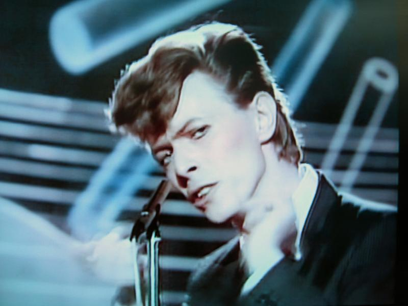 Because too much Bowie is never enough: A still from 'Boys Keep Swinging.'
