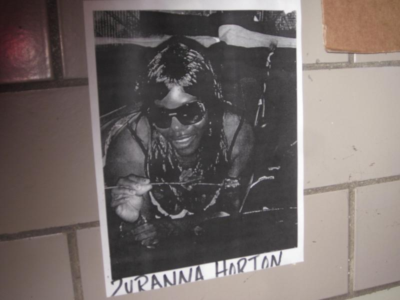 An image of Zurana Horton, in the lobby of her apartment building
