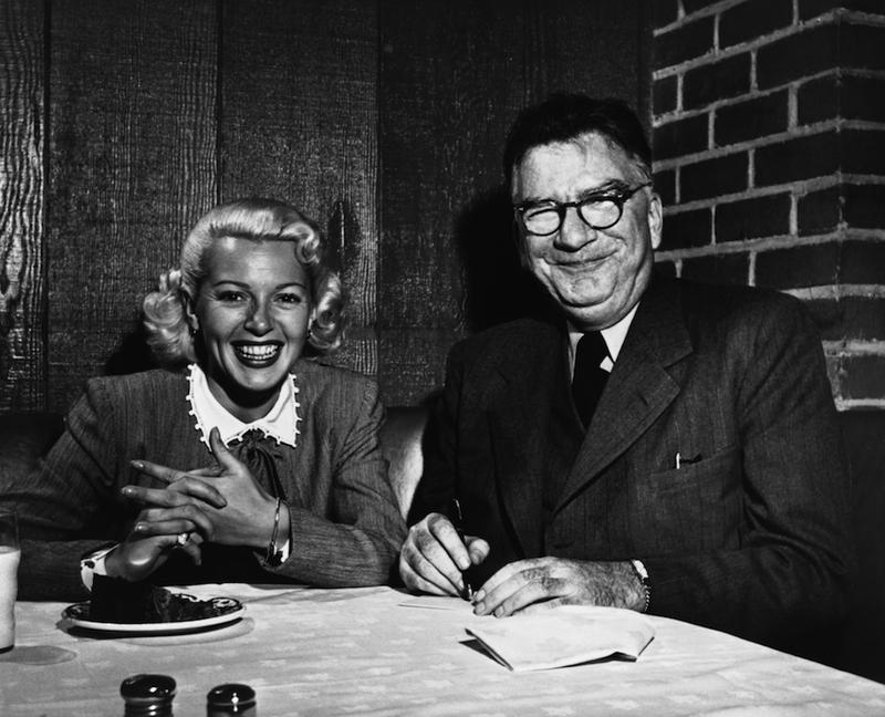 Author James M. Cain and fan, circa 1950s.