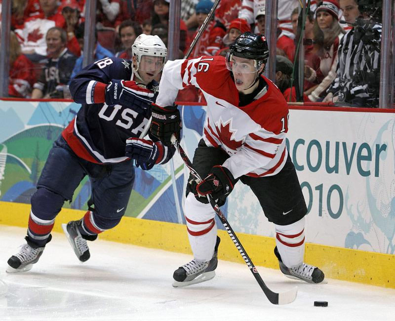 Canada's National Men's Team in action at the Vancouver 2010 Olympic Winter Games