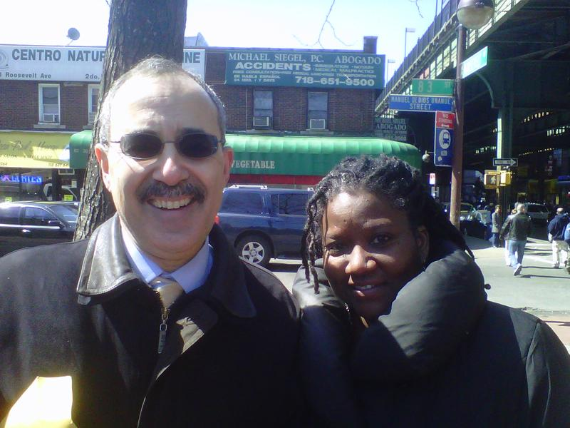 NYC demographer-in-chief Joseph Salvo, with Stacey Cumberbatch, the City Census Coordinator