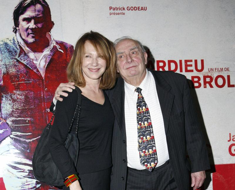 French actress Nathalie Baye poses with French director Claude Chabrol after a party to celebrate Chabrol's 50 year-long career, on February 19, 2009, in Paris.