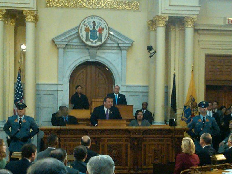 New Jersey Governor Chris Christie gives his 2012 budget address.
