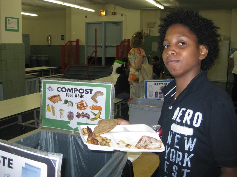 Separating  trays from scraps and other waste helped 8 UWS schools reduce their cafeteria garbage 85%