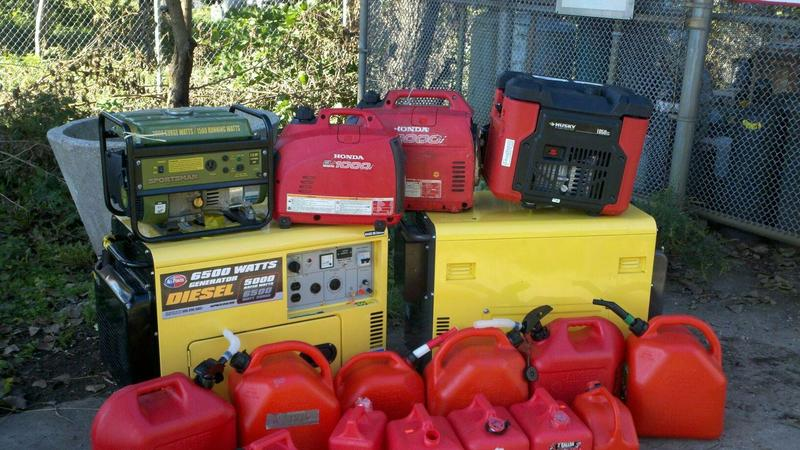 Generators and fuel confiscated from Zuccotti Park by FDNY.