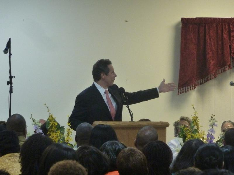 Andrew Cuomo at a church in Brooklyn, on Sunday, October 3, 2010.