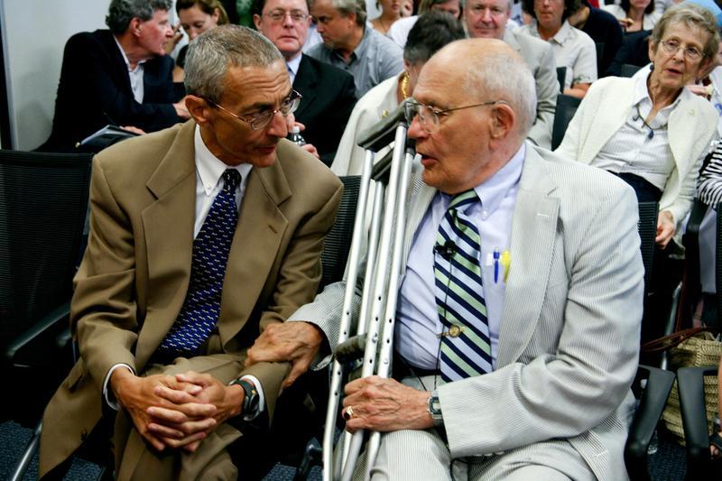 Rep. John Dingell (right) with John Podesta.