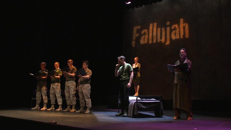 Scene from the opera 'Fallujah'